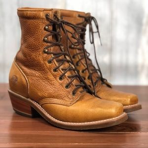 DOUBLE H Women's Leather Lacer Boots 8.5